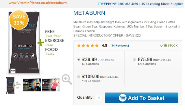 Buy Metaburm Supplements For Fat Loss Online At Vitamin Planet Uk