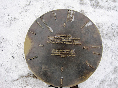 Bronze plate showing peaks around Deeside
