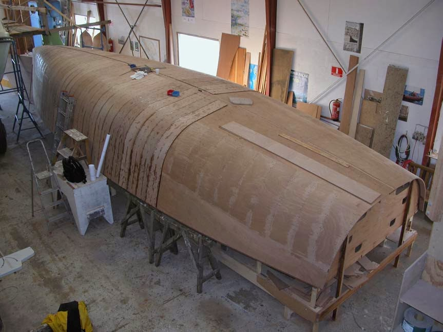 plywood boat building blog 1