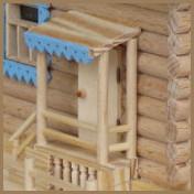 """Фрагмент миниатюры """"Деревянный дом""""."""