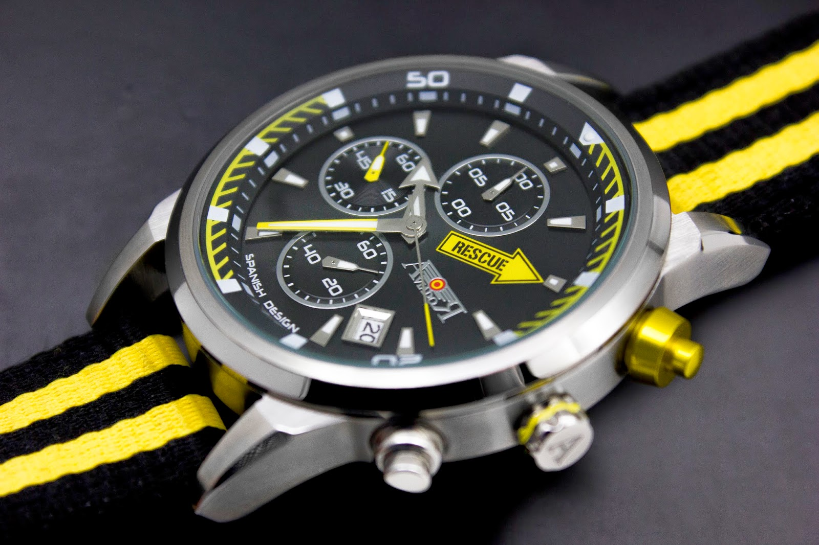 Aviador, Rescue, cronógrafos, relojes, Made in Spain,