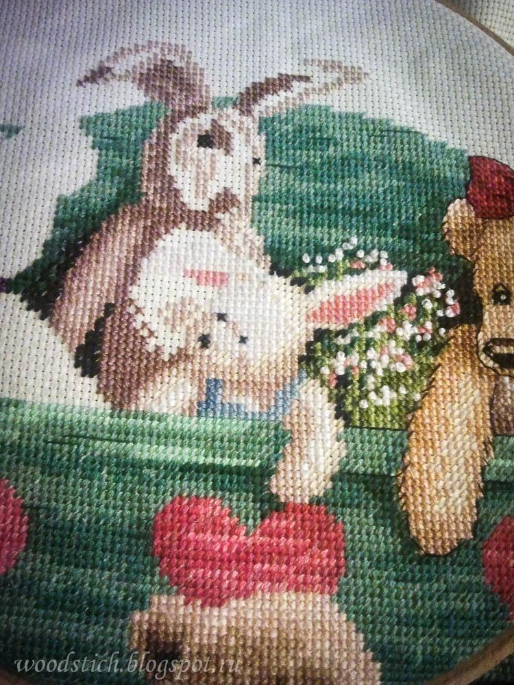 13684 animal shelf схема вышивки 45