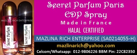 SECRET PARFUM PARIS EDP SPRAY BANNER