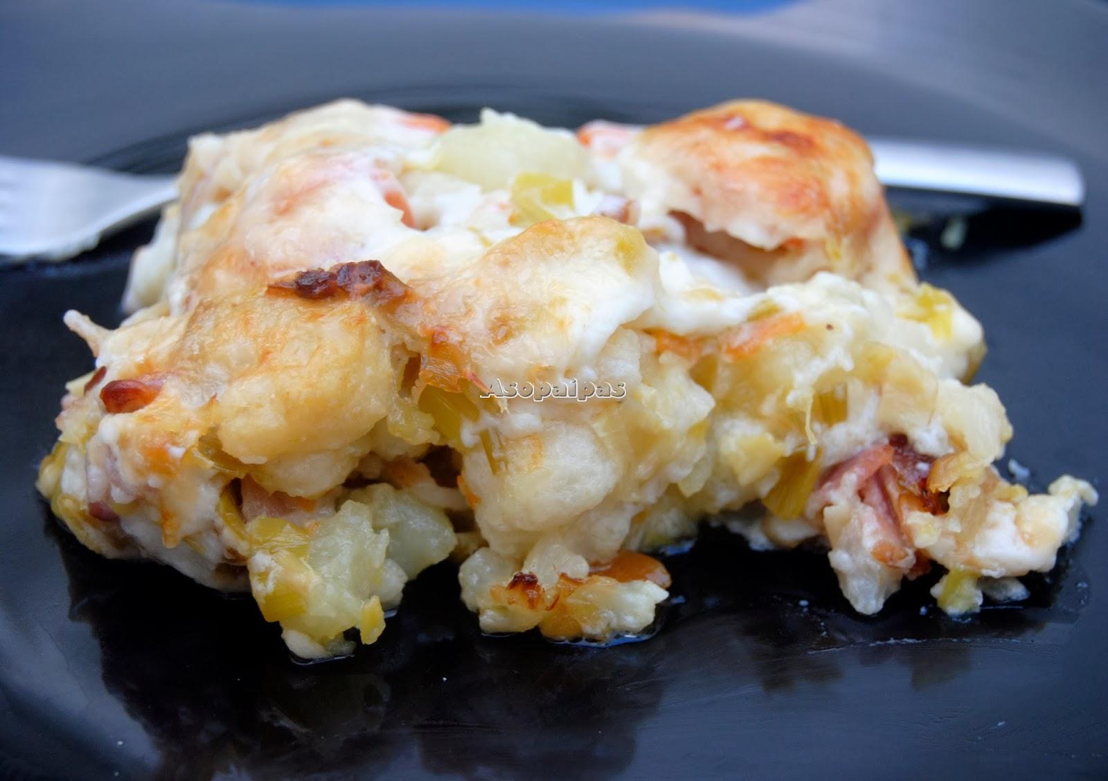 Gratinado de Coliflor, Patatas y Zanahoria