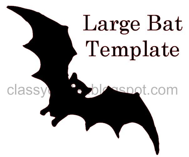 Arts Crafts Large Bat Template Jpg 604 Halloween Fall