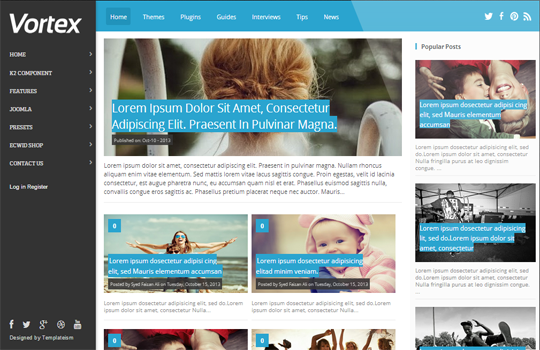 vortex gallery style responsive blogger template 2014 for blogger or blogspot,responsive blogger template 2014 2015,gallery blogger template,seo optimized blogger template,inbuilt social bookmark icons