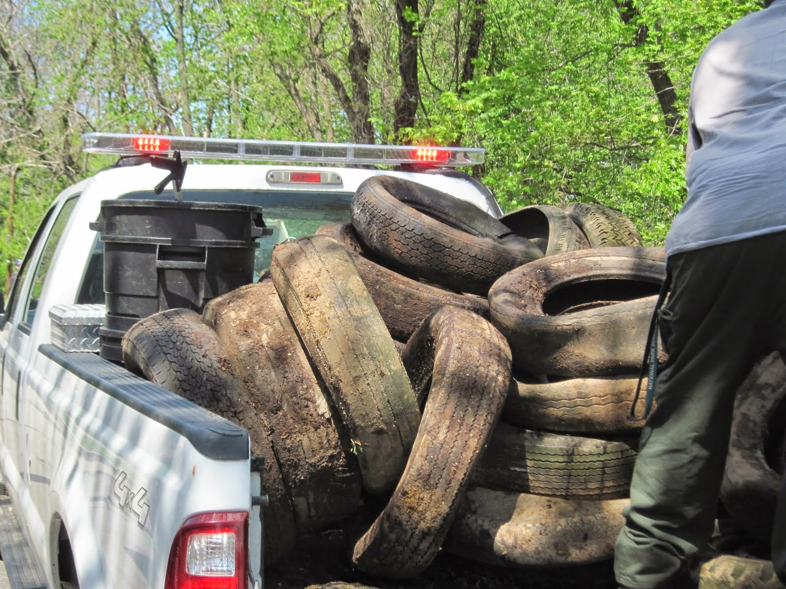 We have removed over 2,000 tires from the park since 2011.