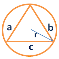 area of Triangle inscribed in a cirle