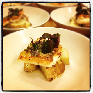 Cornish Hake with Jersey Royals, Lemon & Caper Butter Sauce