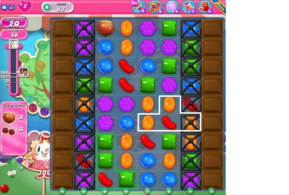 Candy Crush Saga Locked Candy.