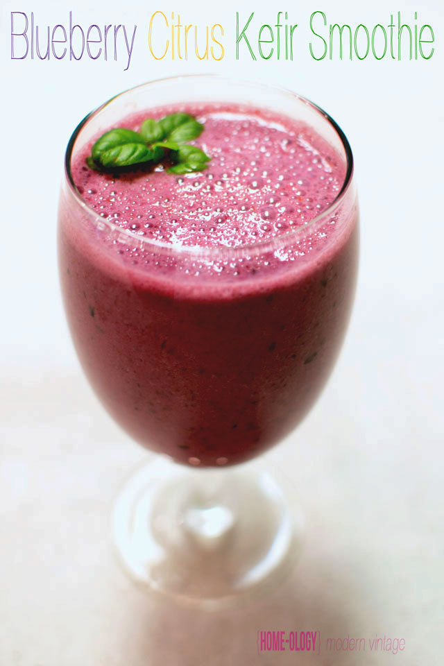 recipe for a blueberry citrus kefir smoothie