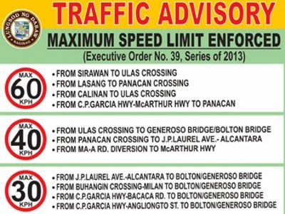 Davao City, Davao Delights, Traffic Advisory, Speed Limit