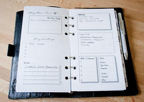 Filofax Blog Planner