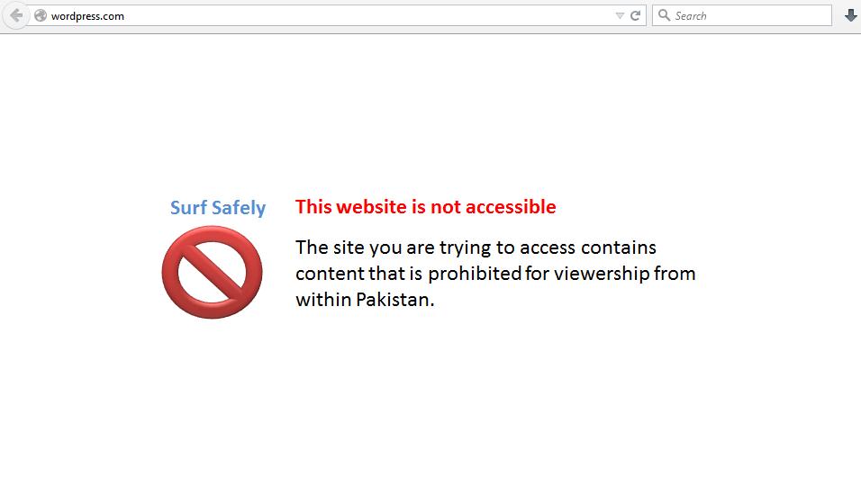 WordPress.com has been banned in Pakistan by PTA