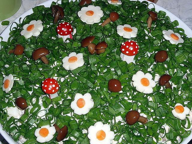 Веселая полянка салат рецепт