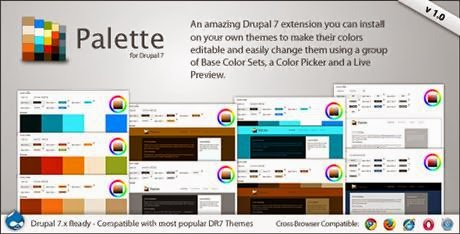 Palette v1.0  4 in 1 Drupal Theme Color Switcher CodeCanyon