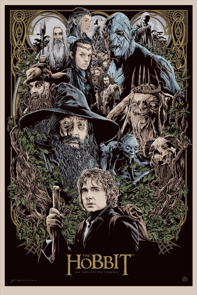 The Hobbit: An Unexpected Journey Screen Print by Ken Taylor
