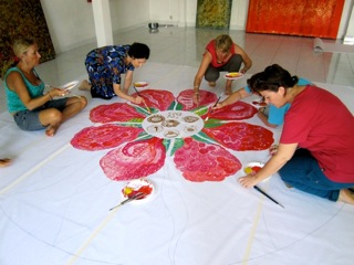 Starting Group Mandala -  April 2011 Bali