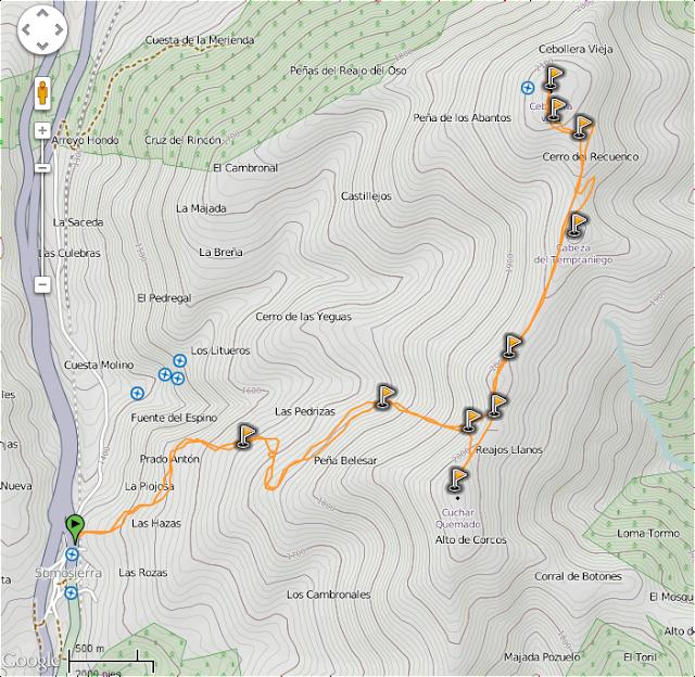 Track para llegar a la Cebollera ó tres provincias