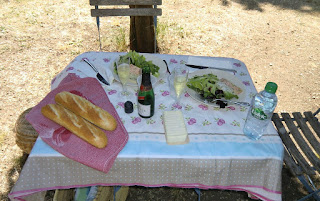 Our picnic table in MIP gardens