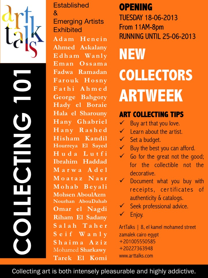 COLLECTING 101 | New Collectors ArtWeek at ArtTalks | June 18 – 25, 2013