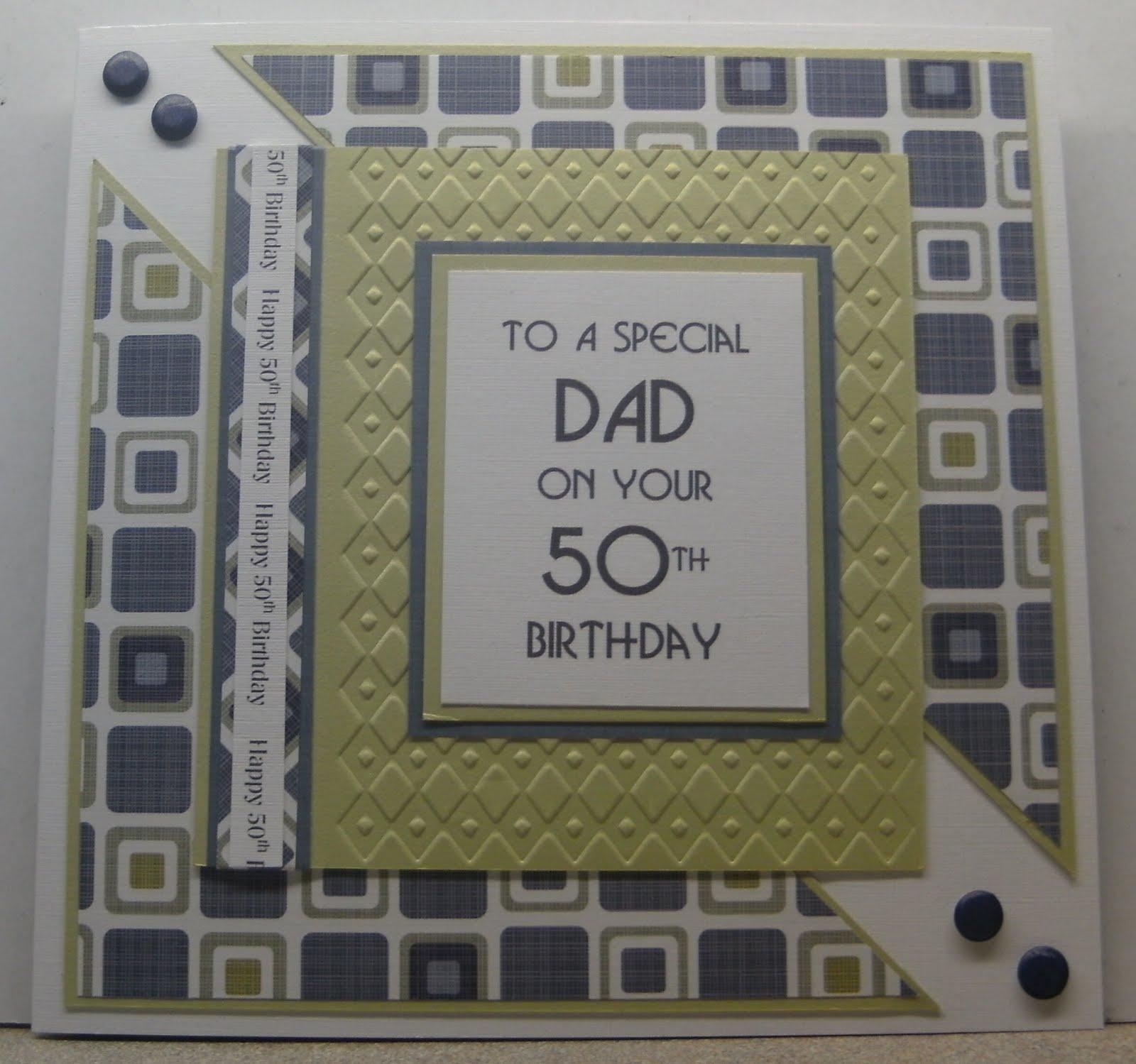 MISSY G DESIGNS Male 50th Birthday Card