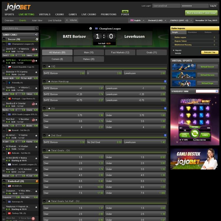 Jojobet Live Betting Offers