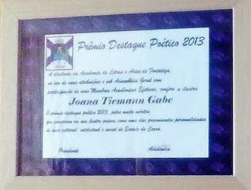 Prêmio Destaque poético 2013- ALAF