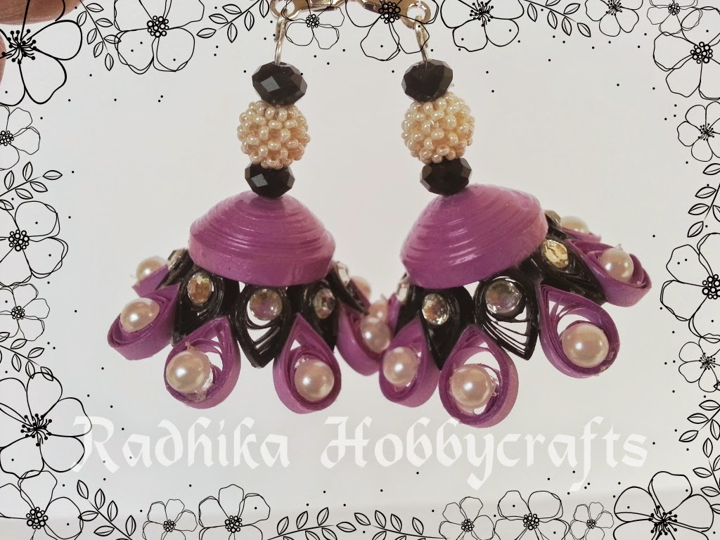 Hobby Crafts :): Quilled Jhumkas