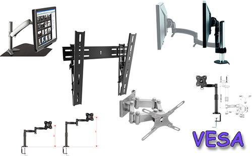 Виды креплений VESA