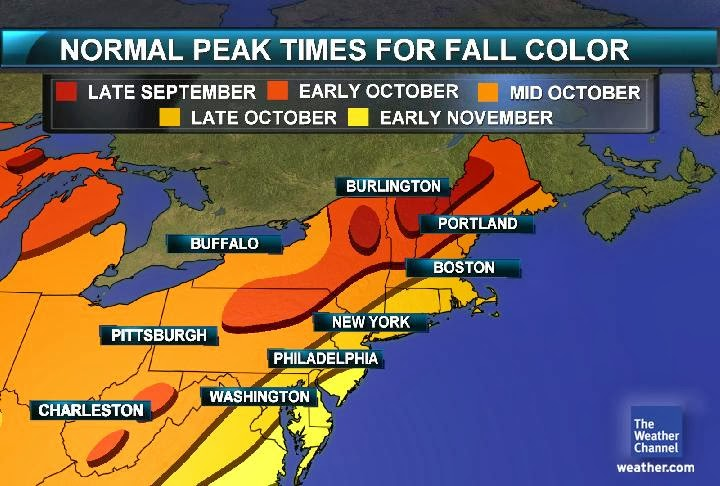 The Peak Foliage Times On The East Coast While Subject To Annual Variances Are Generally Traditionally Reliable As Displayed On The Maps Below