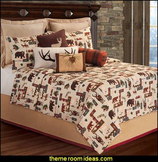 Dakota Quilt log cabin bedding rustic bedding