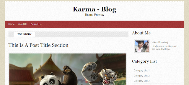 Karma Magazine Blogger Template