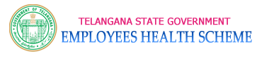 Telangana Employees,EHS Health Scheme, Webportal