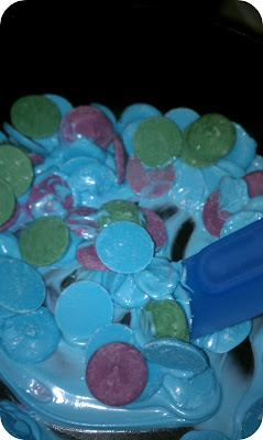 candy melts, cake pops, mixing colors of candy melts