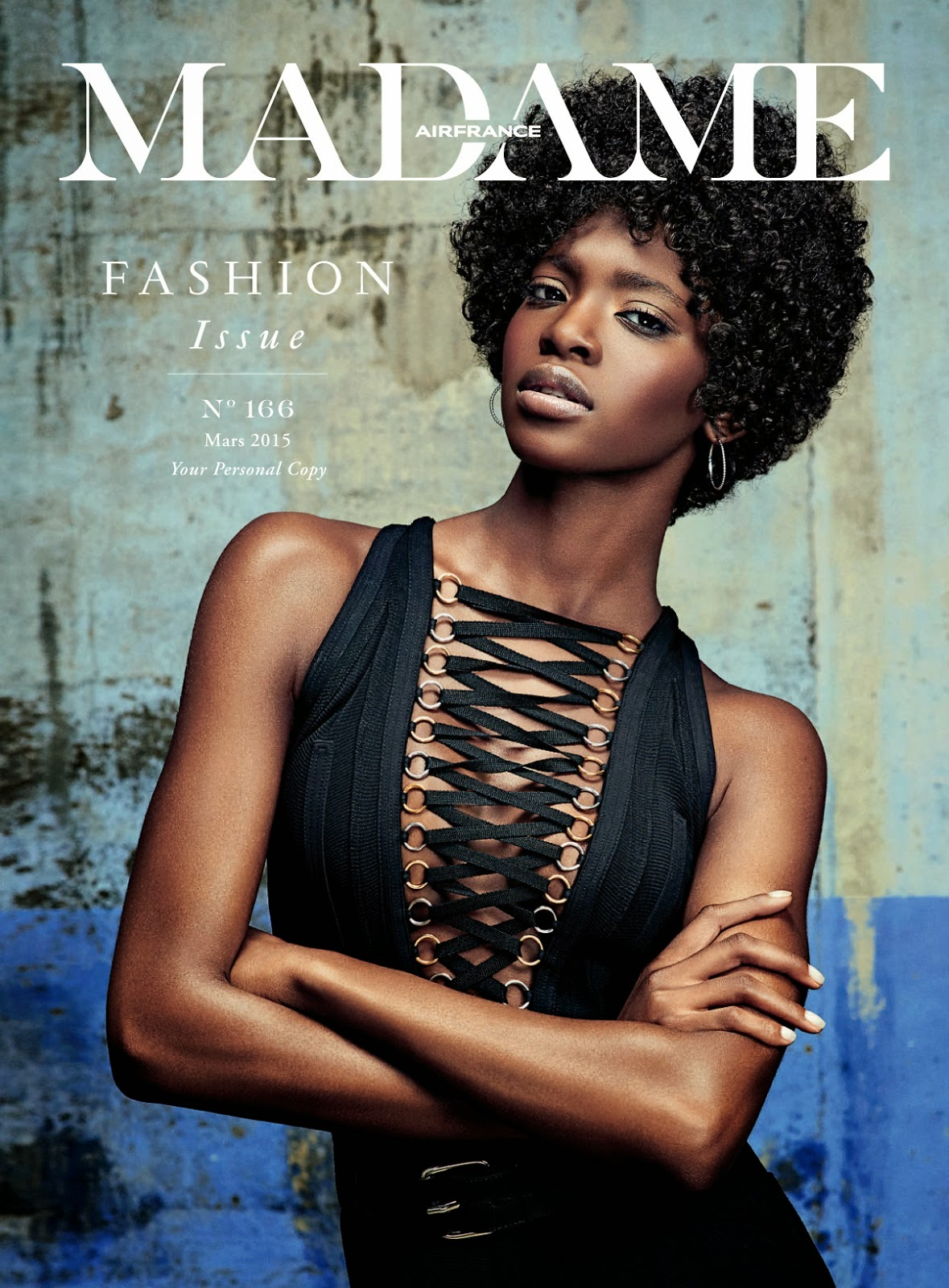 Model @ Marie Fofana by Christian Anwander for Air France Madame March 2015