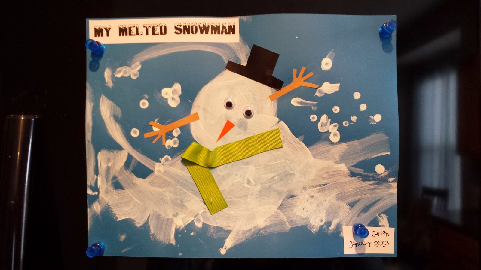 Simple Suburbia: Melted Snowman Craft {Toddler Painting}