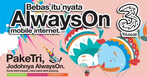 Pengalaman Pake Tri AON Paket Internet 8GB