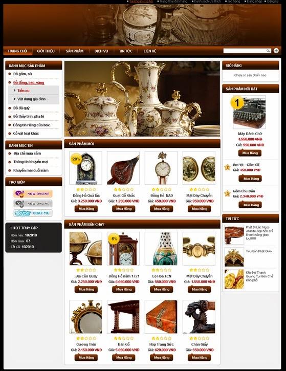 thiết kế web bán hàng bàn ghế