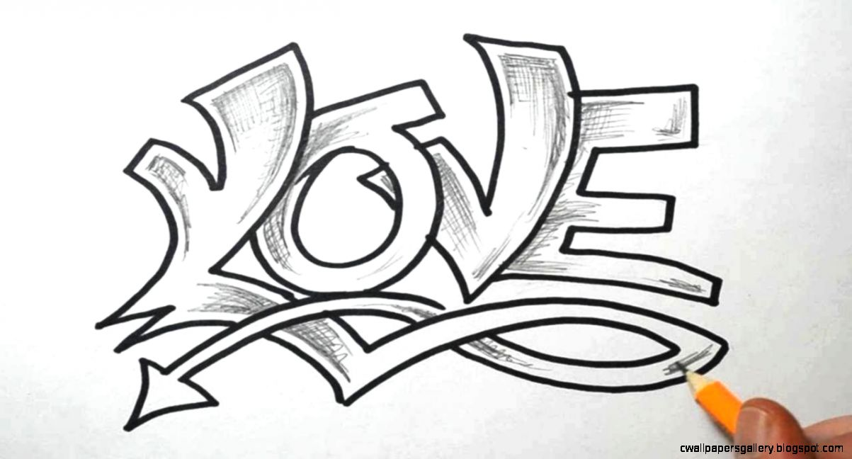 How to Draw LOVE in Graffiti Lettering   YouTube