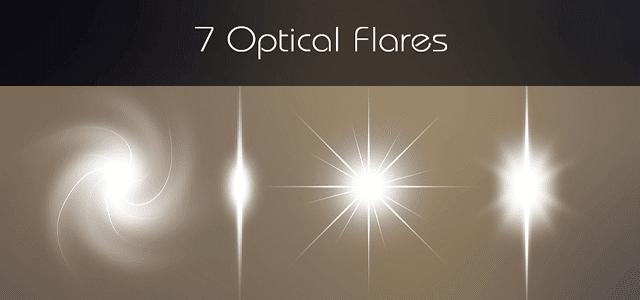 光の輝きを簡単にデザインに追加出来る高品質な無料画像素材セット