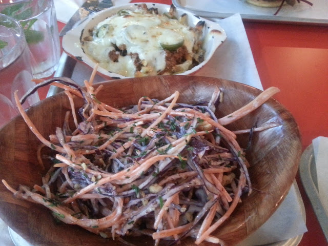 Chilli cheese fries and coleslaw at Psychic Burger