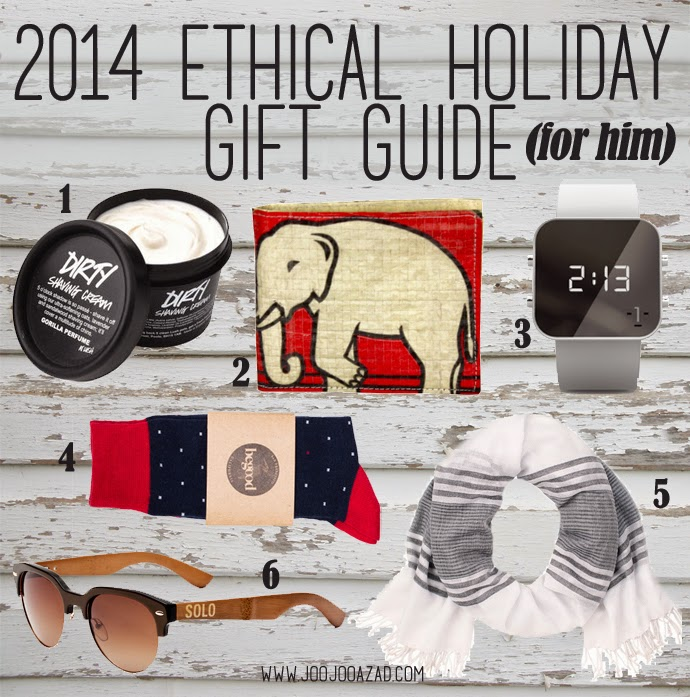 ethical fashion, social action, holiday gift guide, gifts for him, 2014 gift ideas