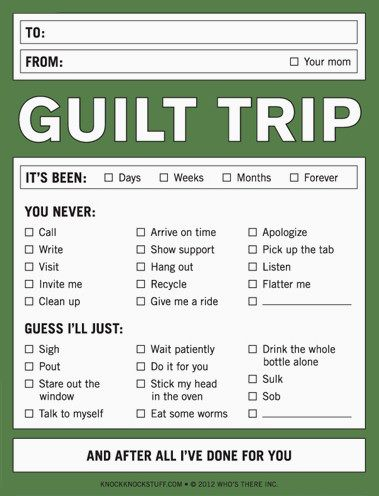 What is guilt tripping