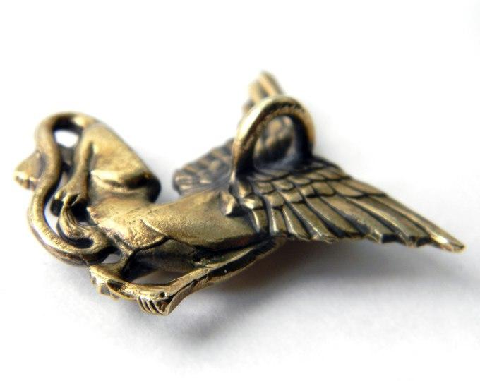 купить бронзовые кулоны кулон сфинкс металлическая подвеска египет