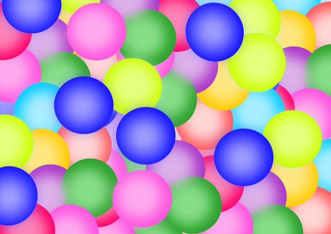 Wallpaper balon versi warna warni