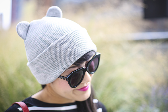 Zara knit hat with cat ears