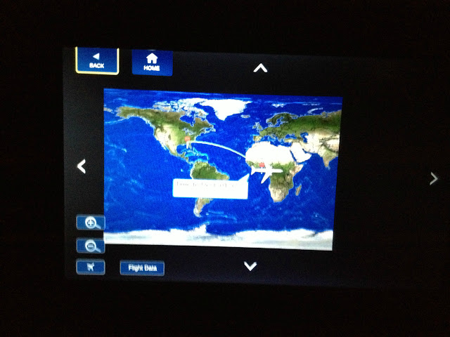 World Map of 11 hour flight from Atlanta to Lagos on Delta Airlines