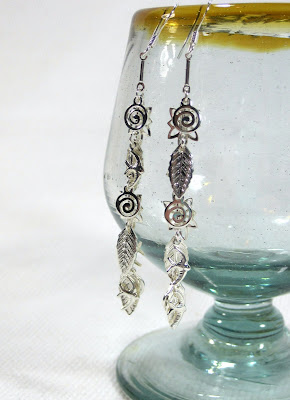 Silver Dangle Charm Earrings
