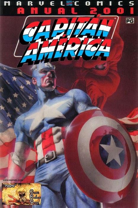 Portada de Capitán América Anual 2001 traducido